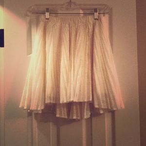 Cream lace skirt